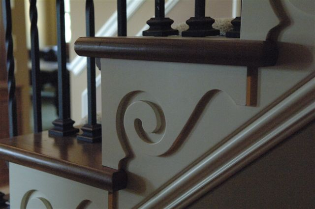 decorative stair finishing